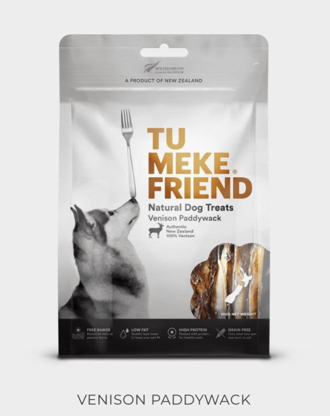 Tu Meke Friend - Venison Paddywack - Natural Dog Treats