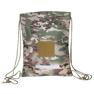 Tactical Drawstring Backpack Army Military Sack