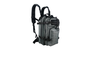 Compact Tactical Laser Cut Backpack Grey with Black