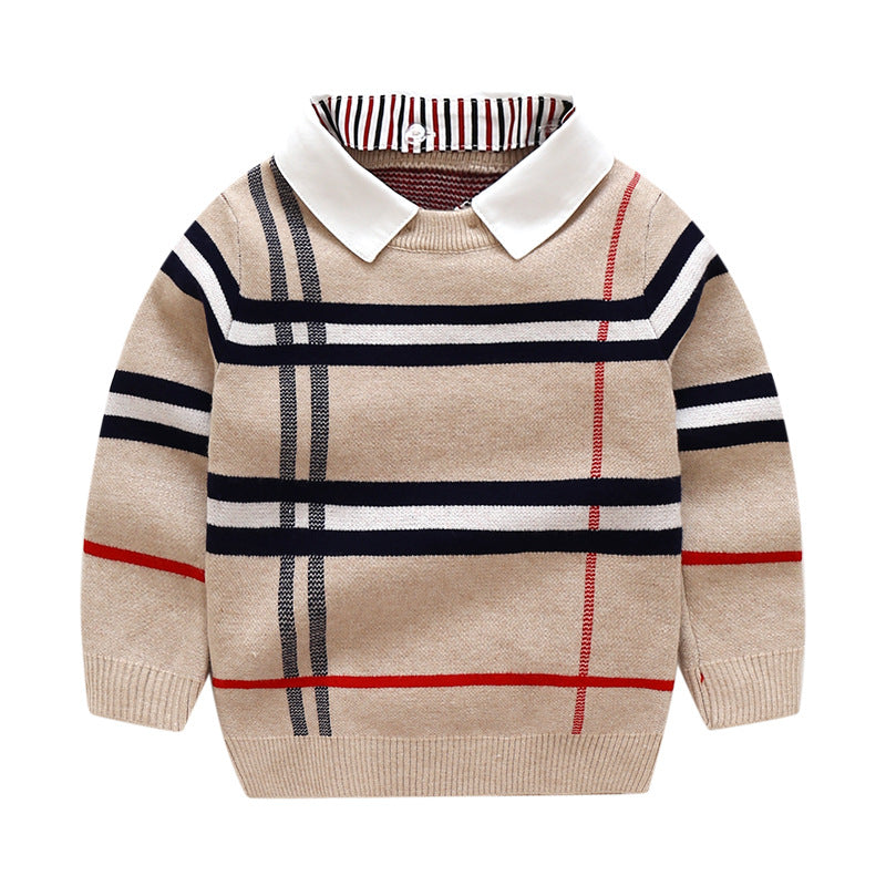 Brighton Boys Plaid Sweater