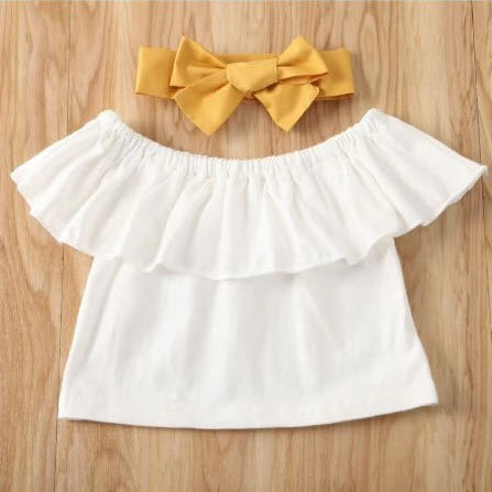 Harper Baby Girl Crop Top/Pants and Headband