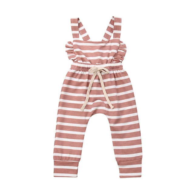 Paige Baby Girl Stripe Cotton Overall