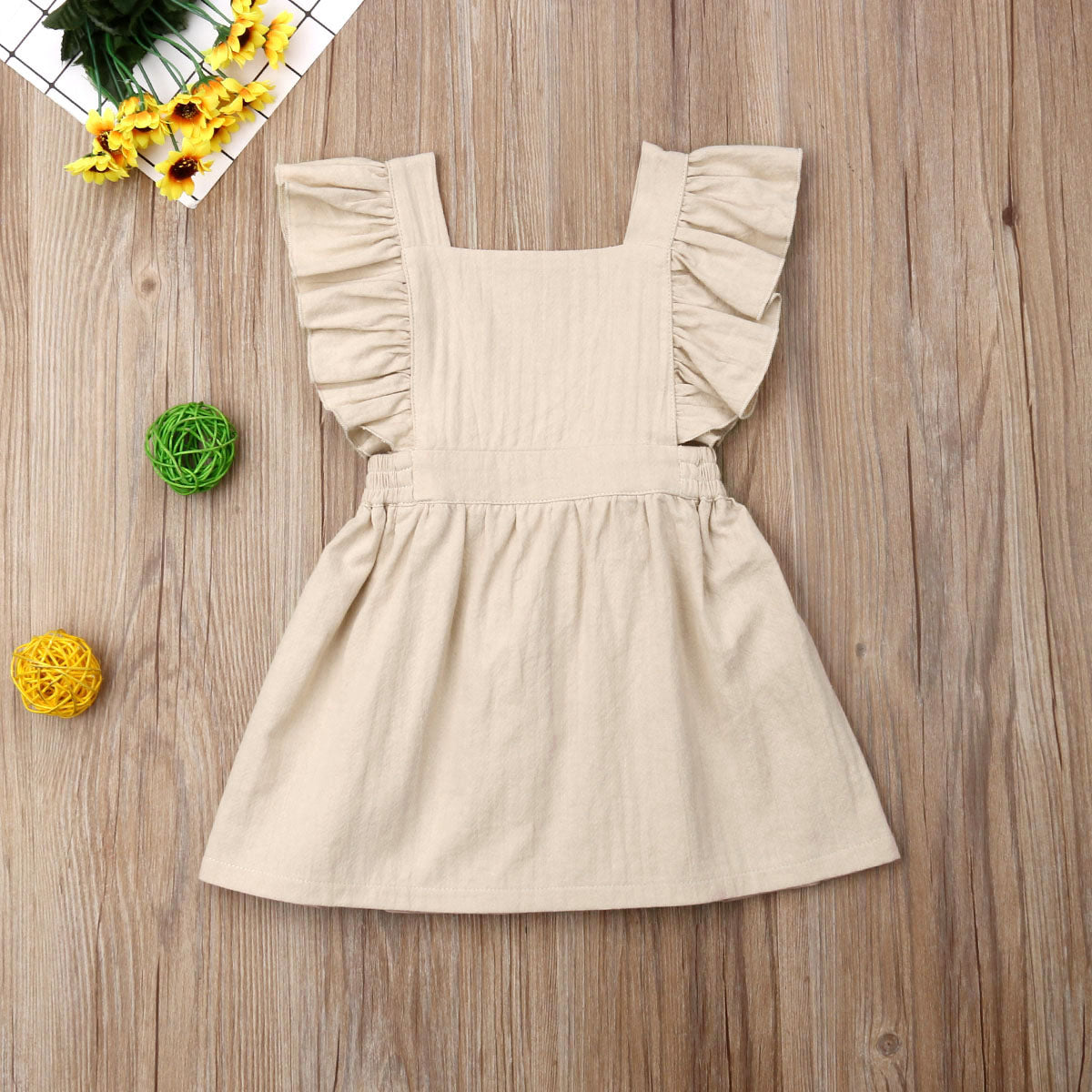 Naomi Baby Girl Cotton Sleeveless Solid Dress