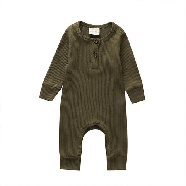 Jill Infant Unisex Warm Knitted Cotton Romper