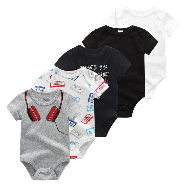 Gian Baby Cotton Bodysuits Set of 5