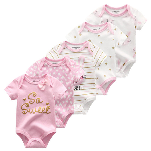Reese Baby Cotton Bodysuits Set of 5