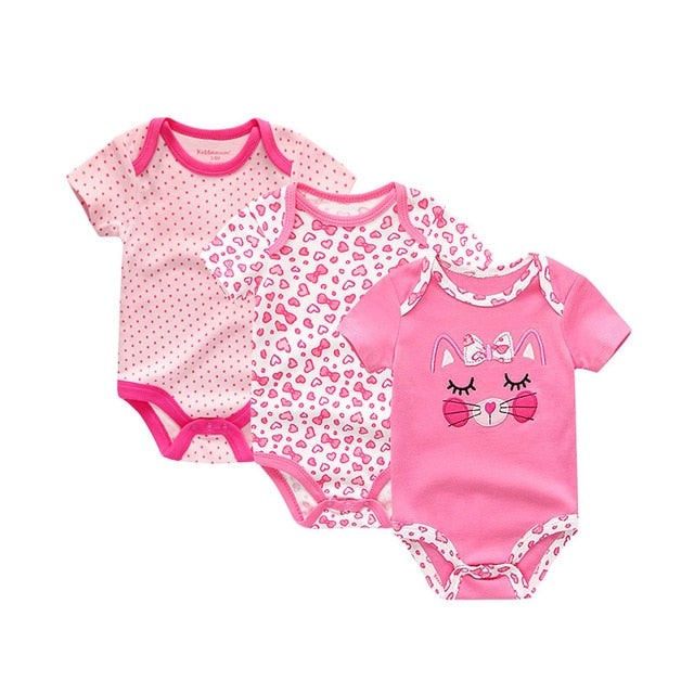 Ara Cotton Baby Bodysuit 3pk Set