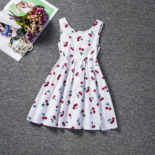 Malia Girls Sleeveless Polka-Dot Dress