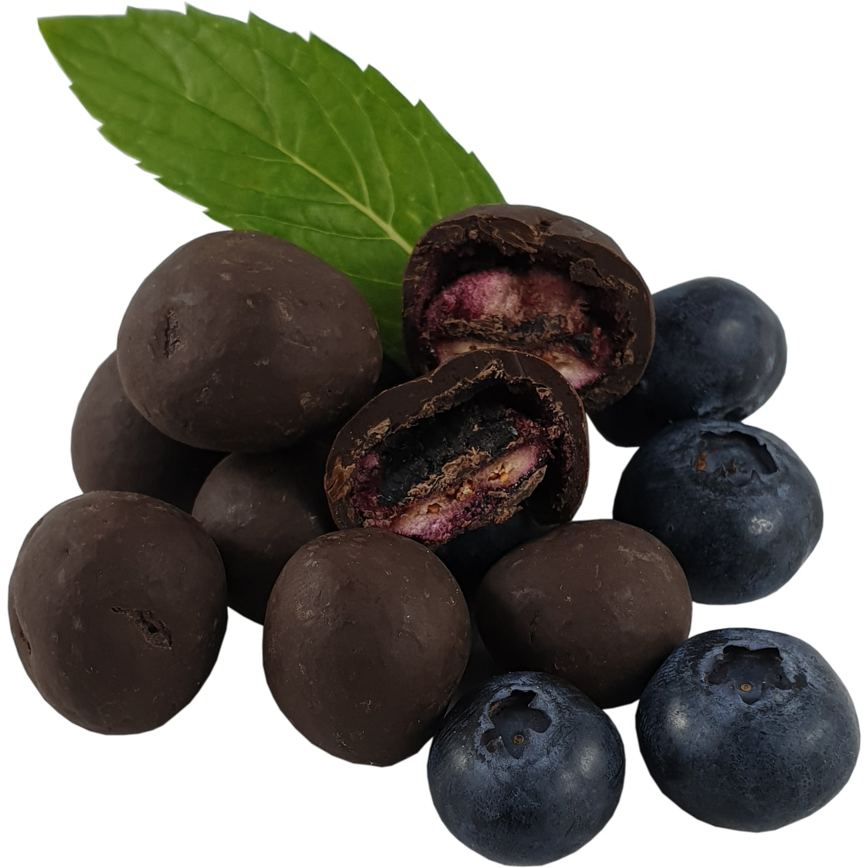 Dark Chocolate Coated Freeze Dried Blueberries 100g