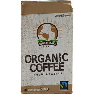 Global Cafe Direct Coffee Original Blend 250g Ground Organic