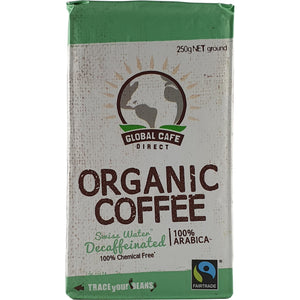 Coffee Fairtrade Organic Decaffeinated 250g Ground