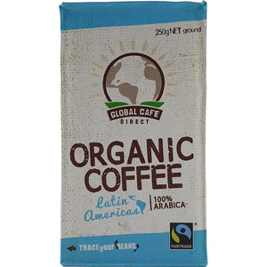 Global Cafe Direct Coffee Latin Americas 250g Ground Organic