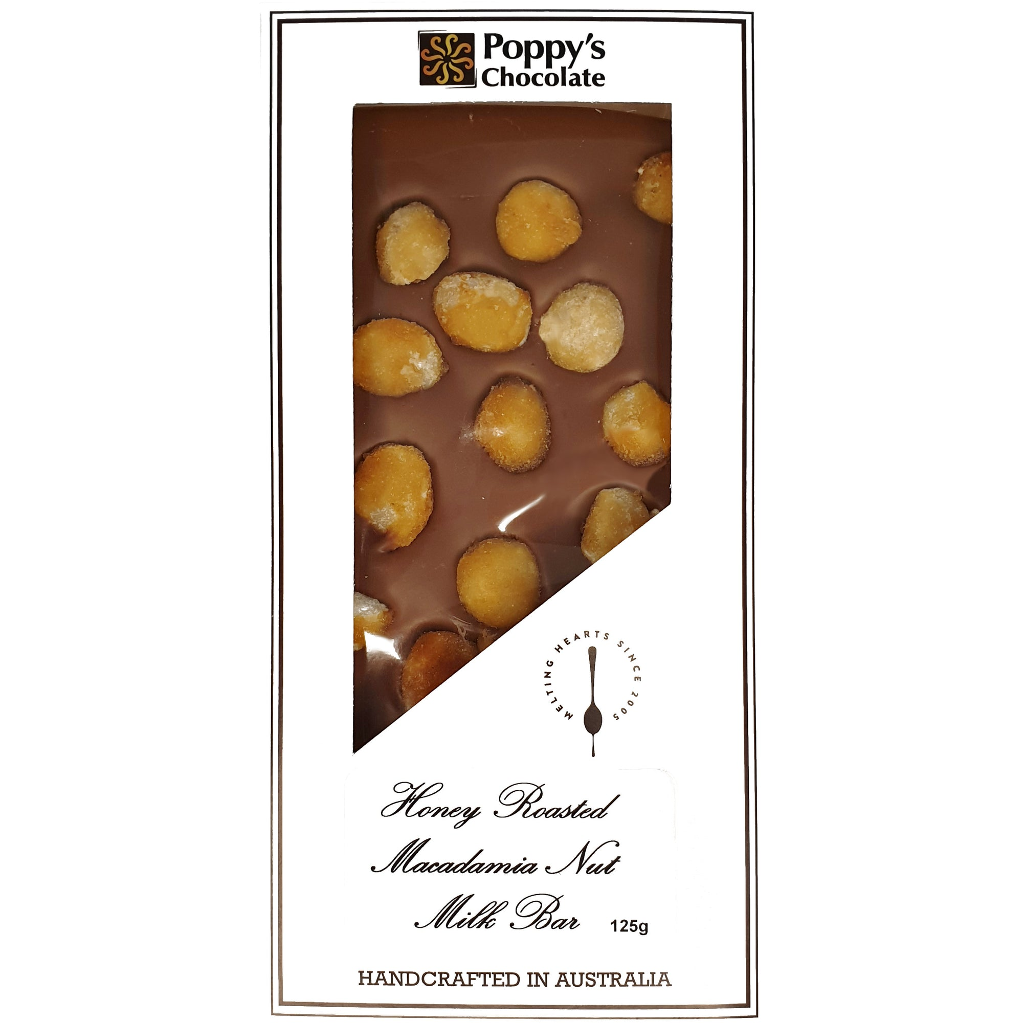 Honey Roasted Macadamias and Milk Chocolate Block 125g