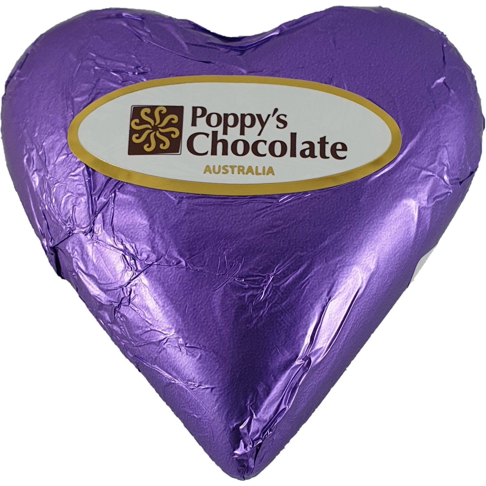 Heart White Chocolate Foiled 90g