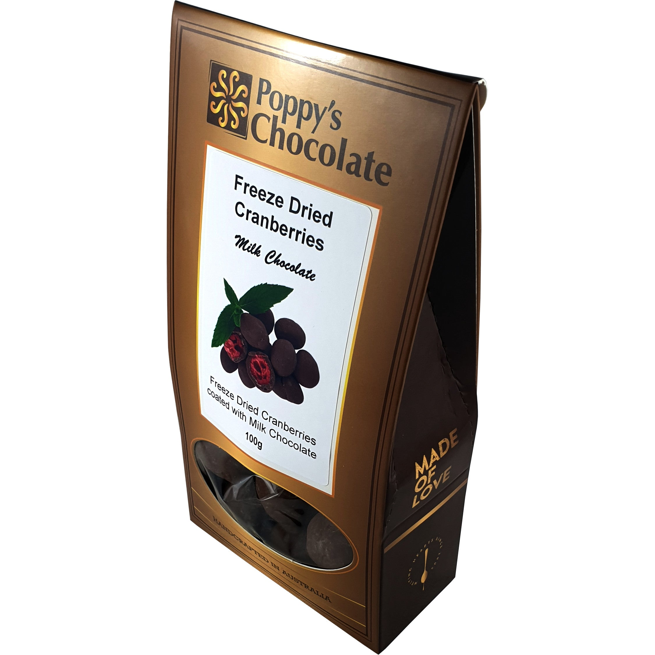Milk Chocolate Coated Freeze Dried Cranberries 100g
