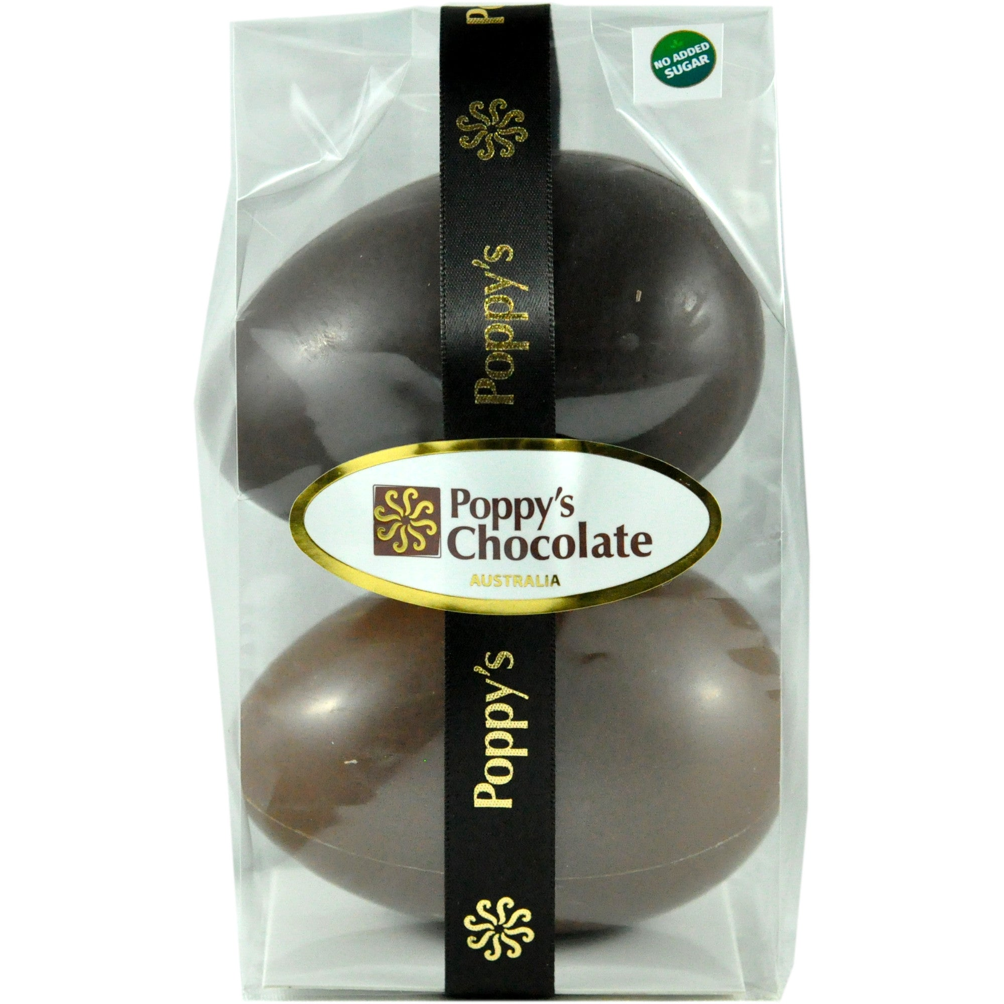 No Added Sugar Eggs Pack of 2 Milk and Dark Chocolate