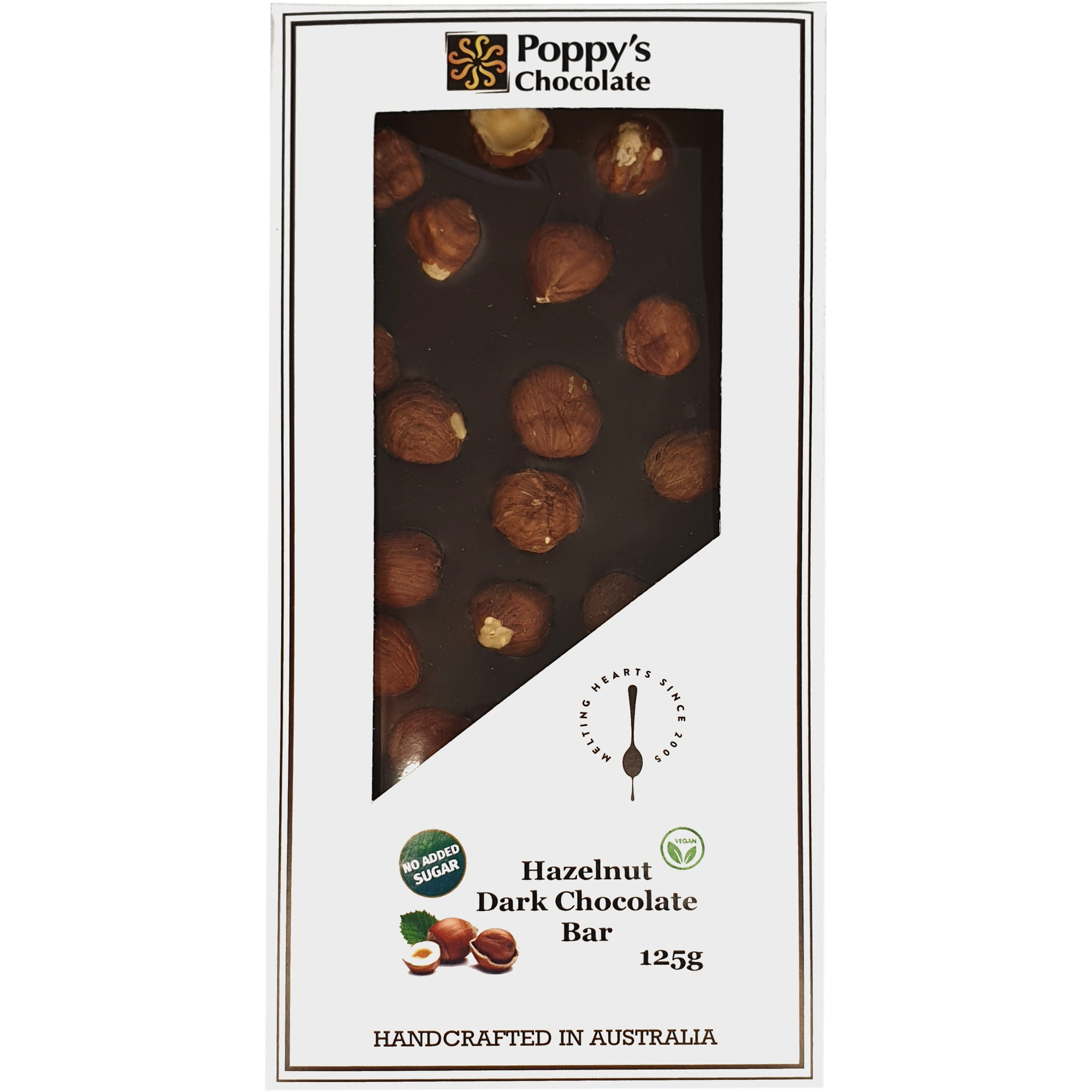 No Added Sugar Hazelnut and Dark Chocolate Block 125g
