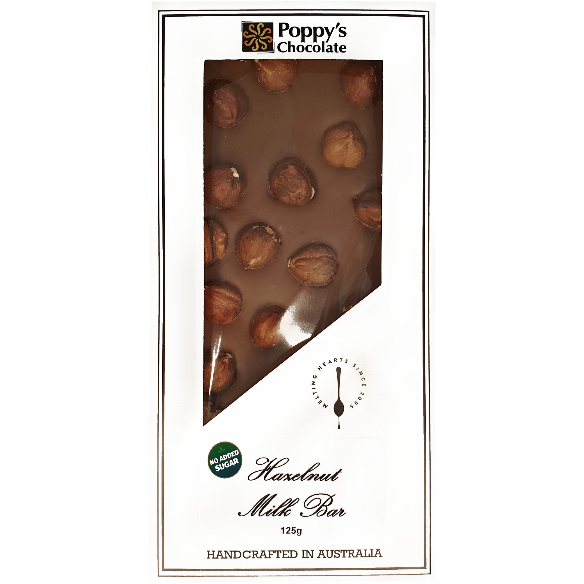 No Added Sugar Hazelnut and Milk Chocolate Block 125g