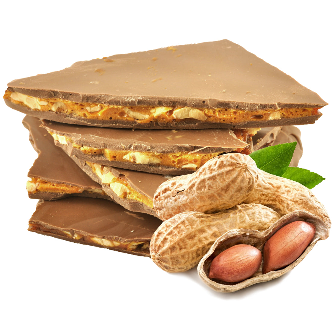 Peanut Brittle coated in Milk Chocolate 100g