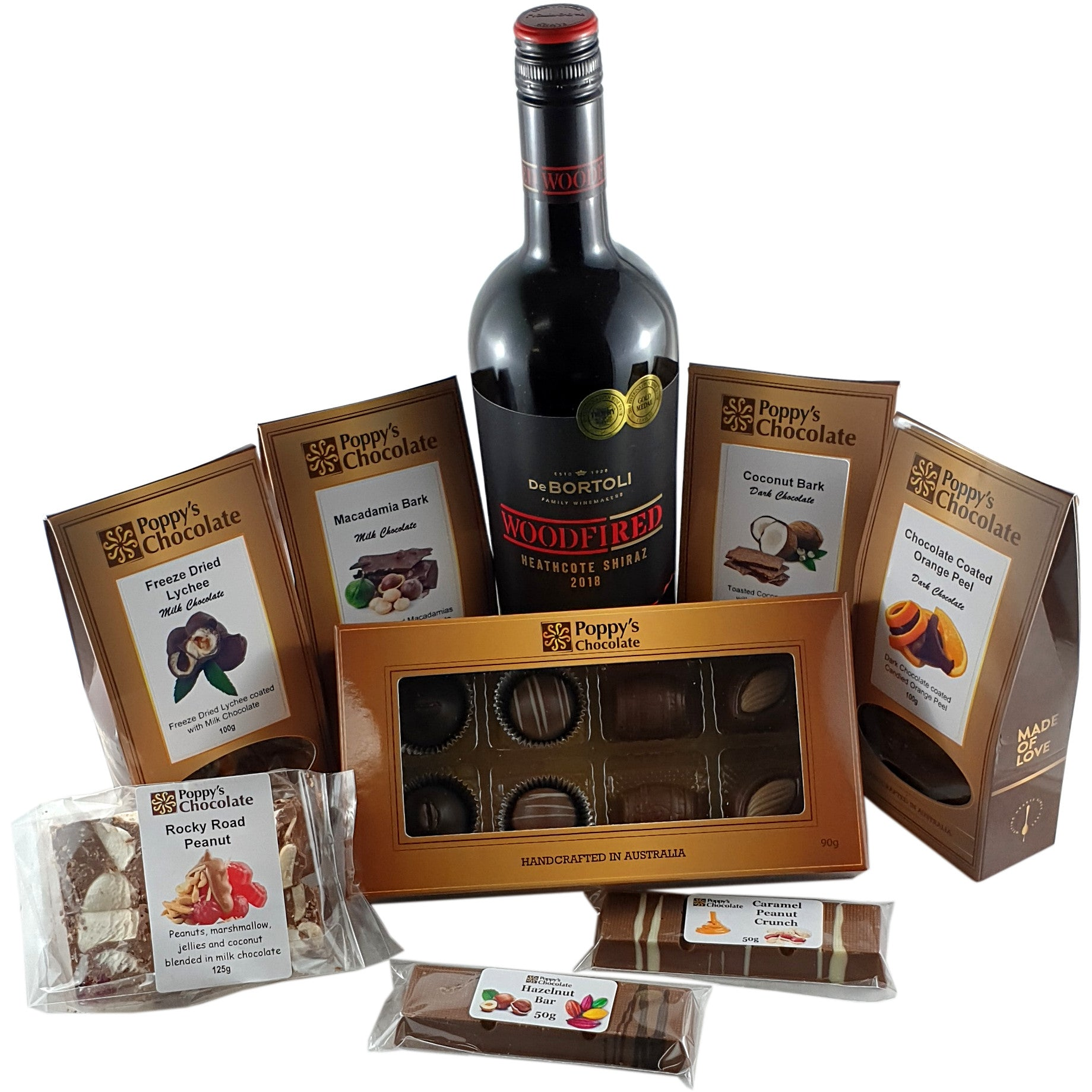 Fireside Moments Hamper with Shiraz