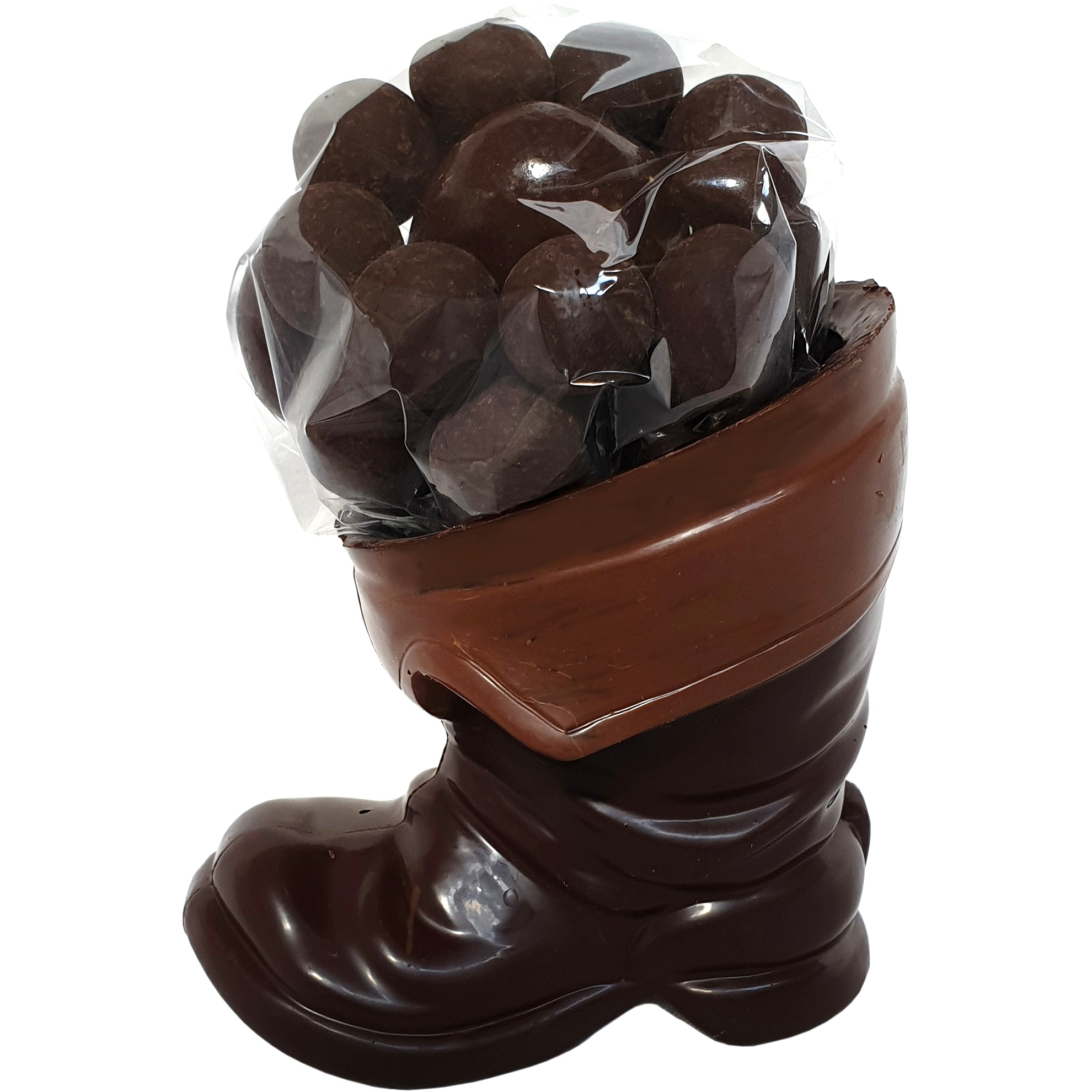Santa's Boot 70% Dark chocolate filled with chocolate fruit and nuts 240g - Vegan