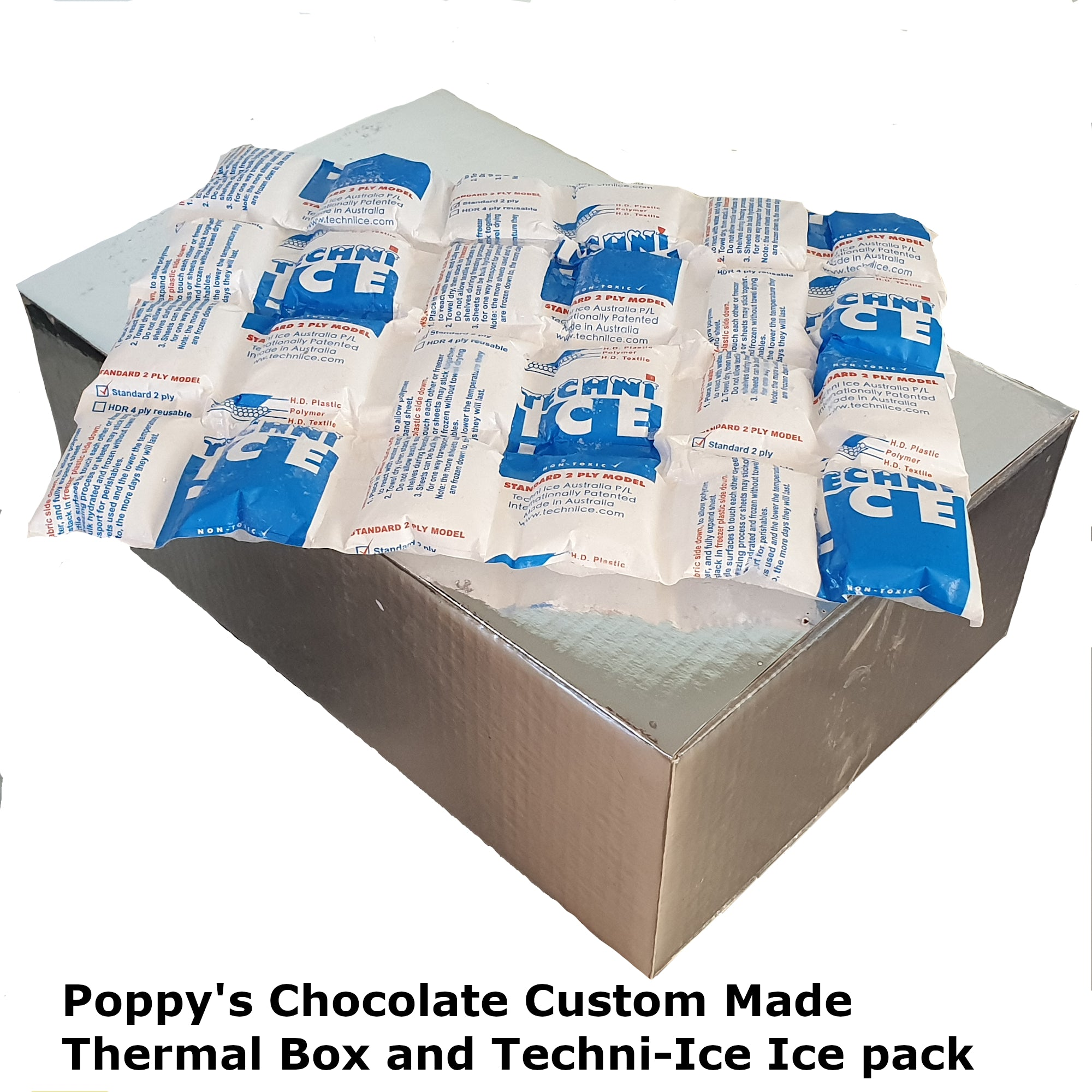 PROTECT CHOCOLATES FROM MELTING  - Pack in Thermal Box and Icepack packaging (if not purchased, order will ship in a cardboard box with no ice)