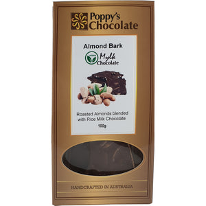 "Almond Slivers and ""Mylk"" Chocolate Bark 100g - Vegan"