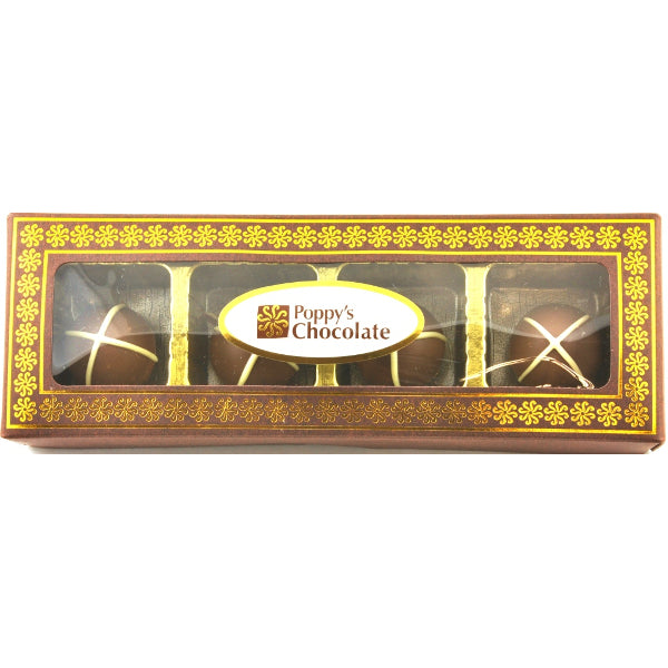 Hot Cross Truffle Gift Box 4 chocolates