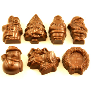Assorted Christmas Chocolates 4 pack - milk chocolate