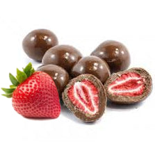 Dark Chocolate coated Freeze Dried Strawberries 150g