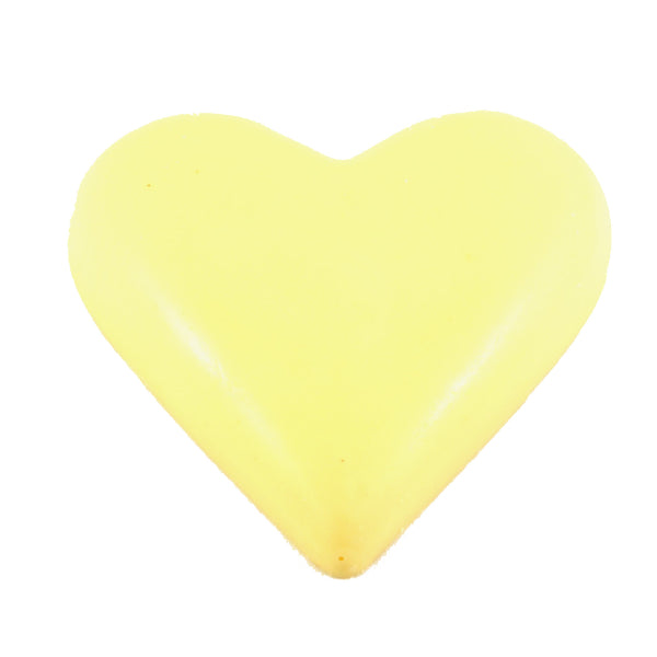 Heart White Chocolate 90g Purple Foil Wrapped