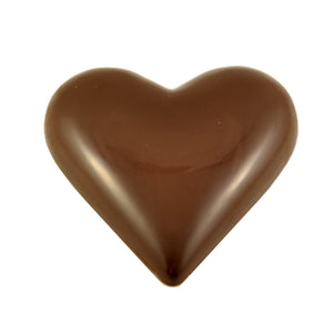 Heart 70% Dark Chocolate 90g Silver Foiled - Vegan