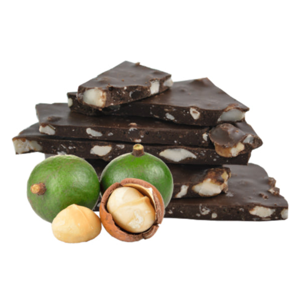 Macadamia and 70% Dark Chocolate Bark 100g - Vegan