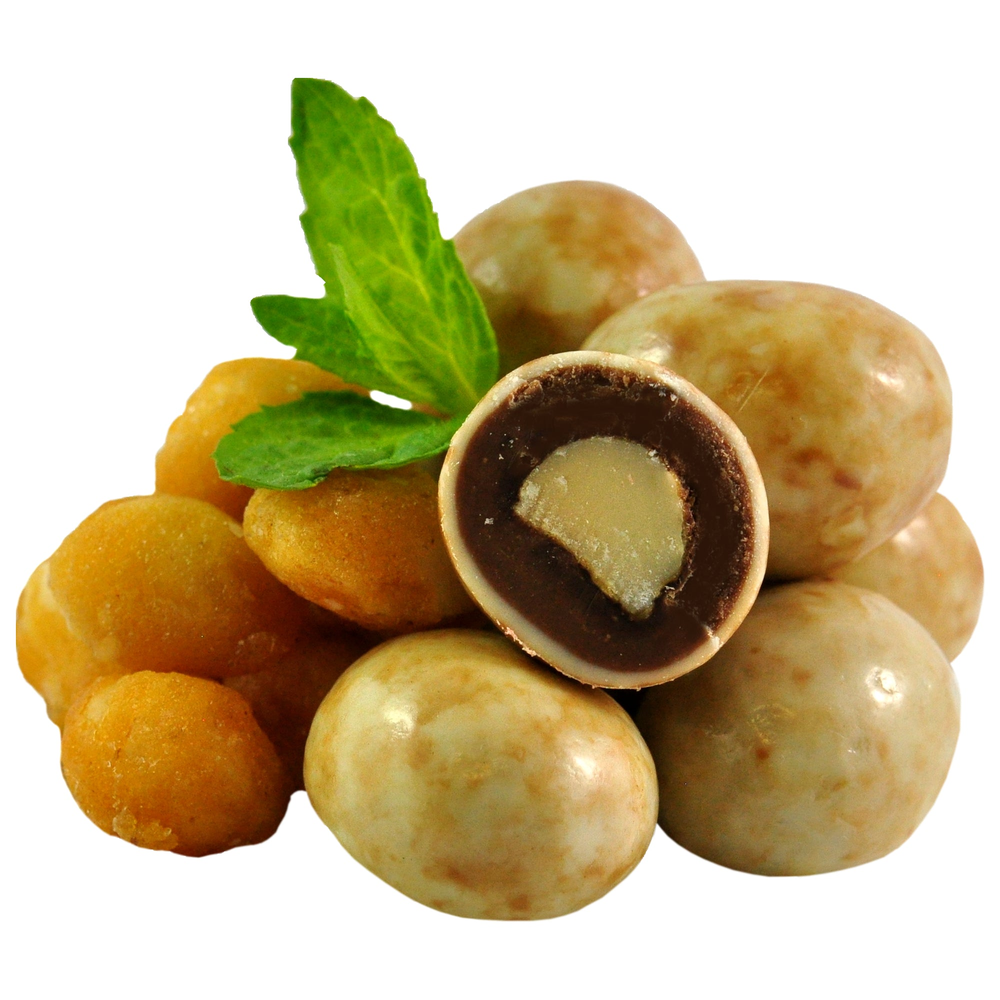 Moon Macadamias Milk and White Chocolate Coated 150g