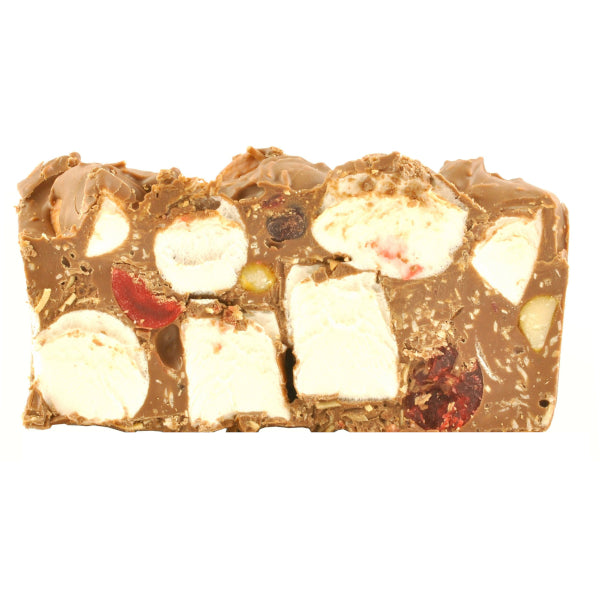 Rocky Road Macadamia and Cherry milk chocolate 125g