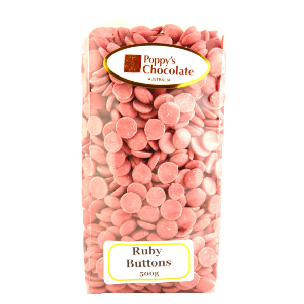 Chocolate Buttons Ruby chocolate - Gluten Free 500g