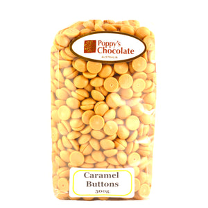 Chocolate Buttons Caramel Couverture chocolate - Gluten Free 500g