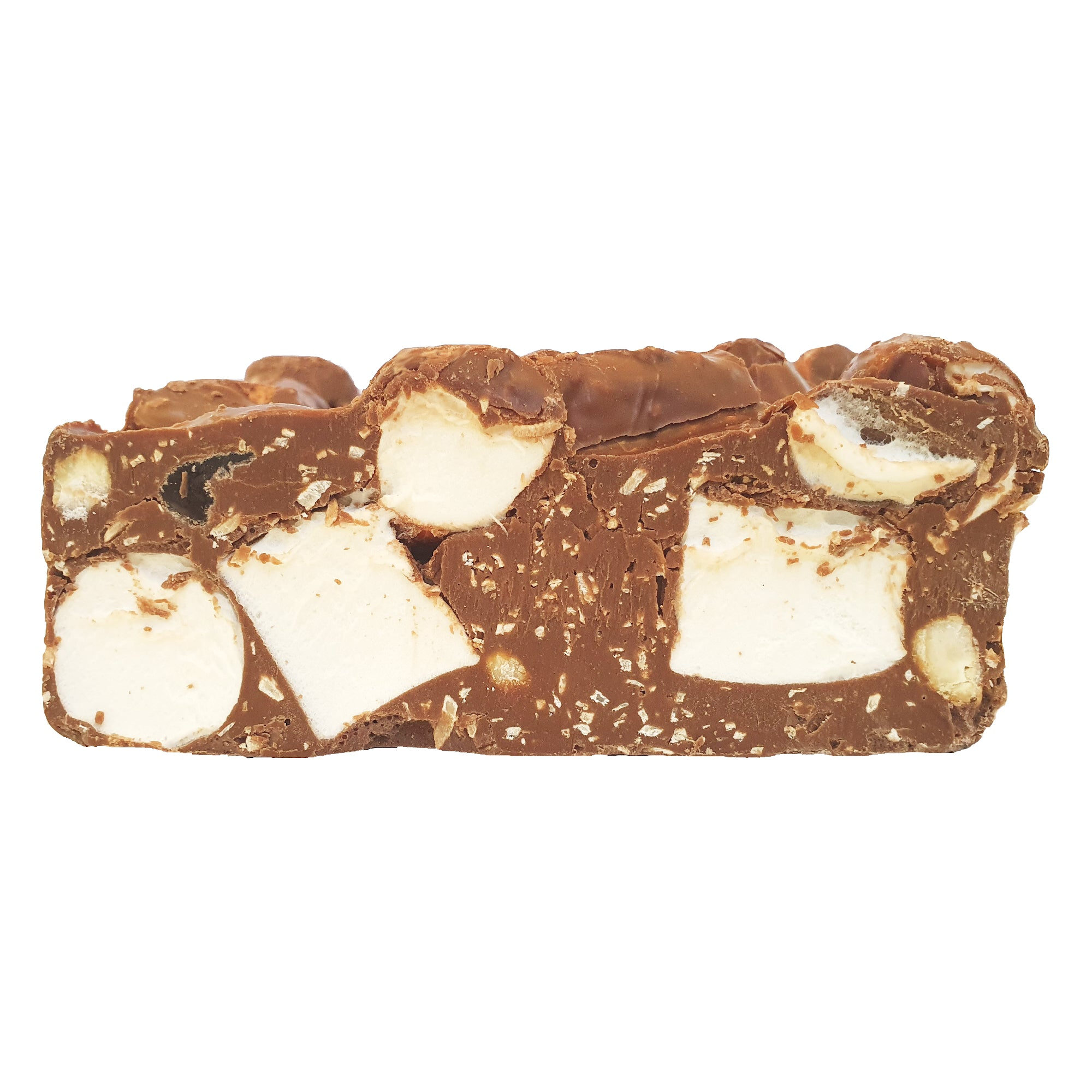 Rocky Road Cashew and Turkish Delight Milk Chocolate Block 500g