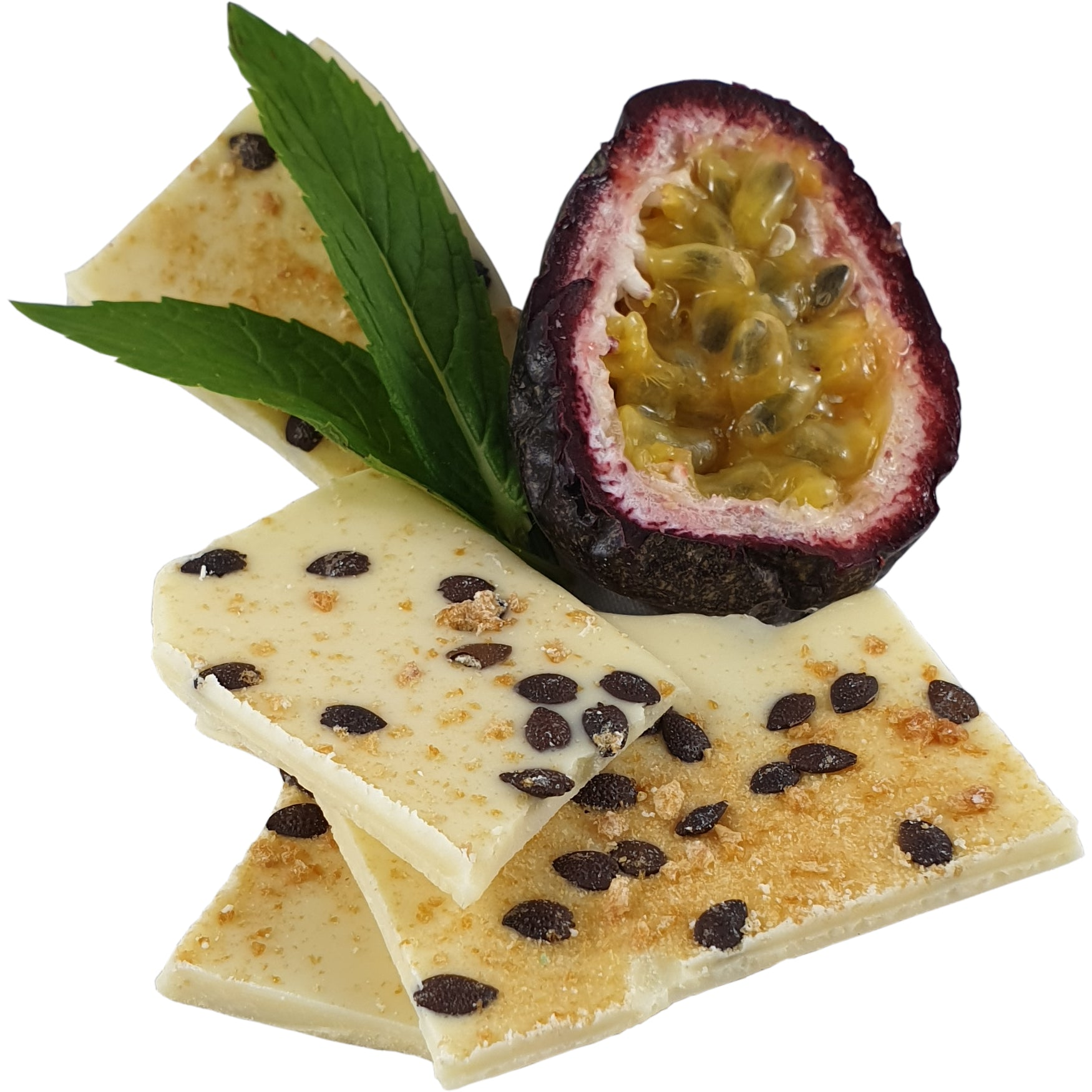Passionfruit and White Chocolate Bark 100g