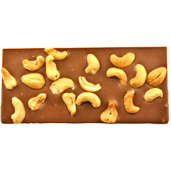 Honey Roasted Cashews and Milk Chocolate Block 125g