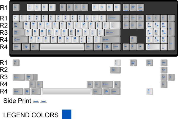 MOD Keyboards - Modern Beige - Classic (Dark Blue) - KEYSETS - Originative - 1