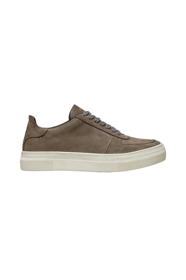 SELECTED HOMME GREY NUBUCK CHRIS TRAINER