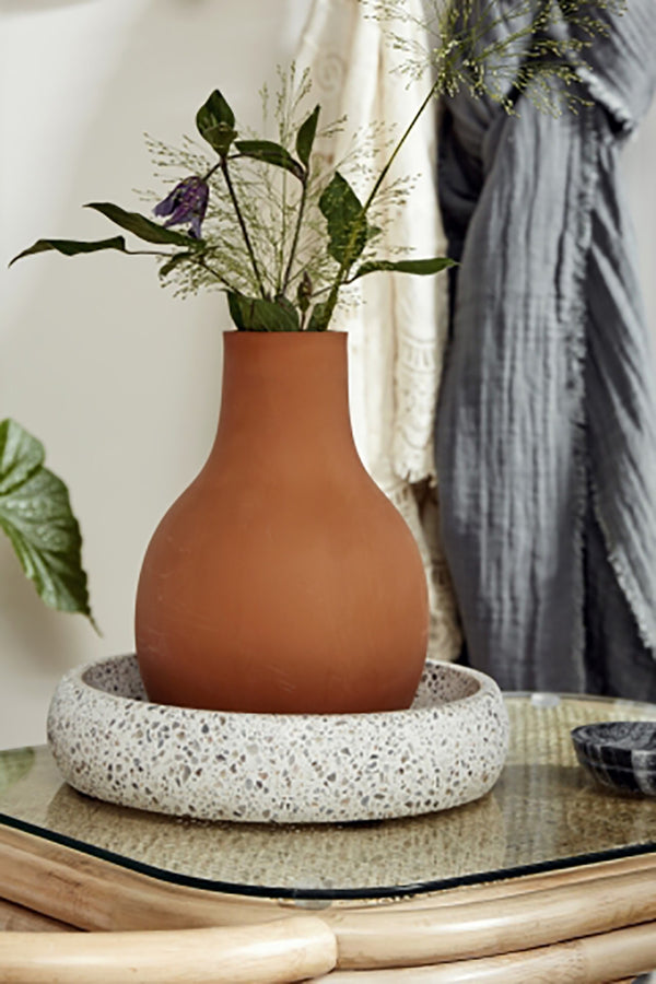NORDAL BROWN PROMISE CLAY VASE