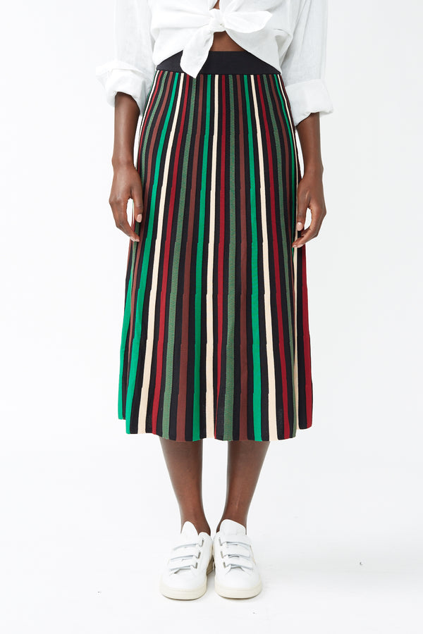 Emerald Stripe Flavie Skirt
