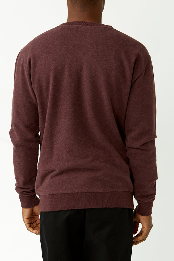 Burgundy Elm Owl Sweater