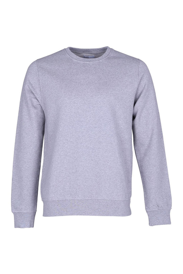 COLORFUL STANDARD HEATHER GREY CLASSIC UNISEX ORGANIC CREWNECK SWEATER