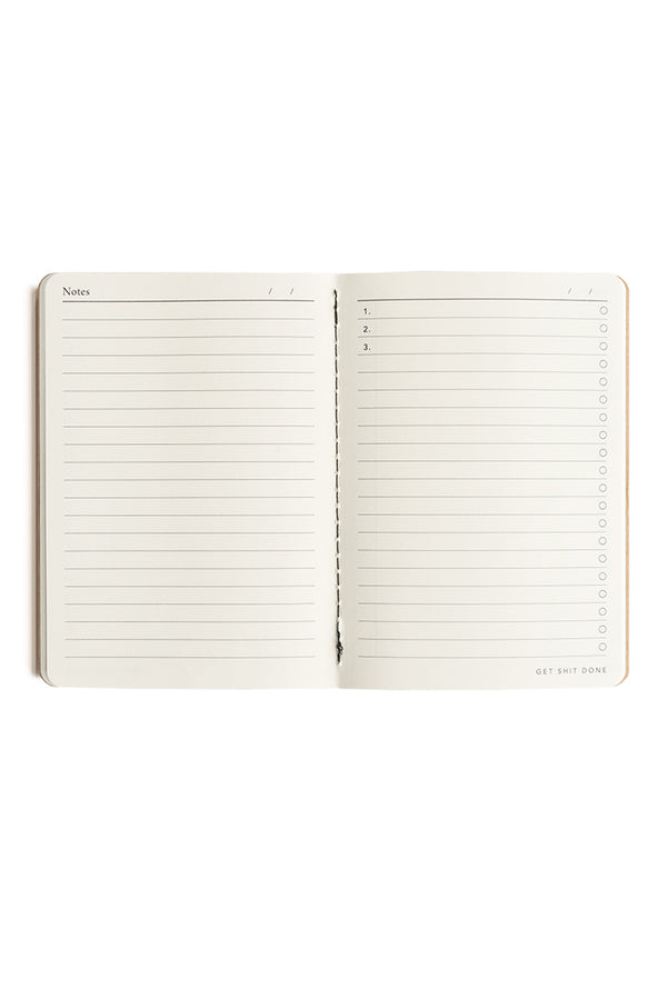 Kraft 'Get Shit Done' Classic To-Do List A6 Notebook
