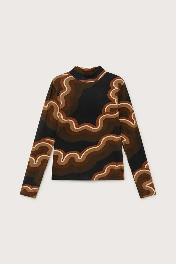 Brown Psychedelic Ellen Jumper