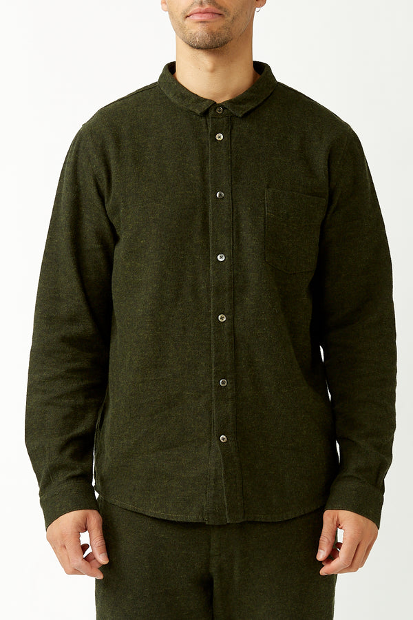 Forest Green Simon Flannel Shirt