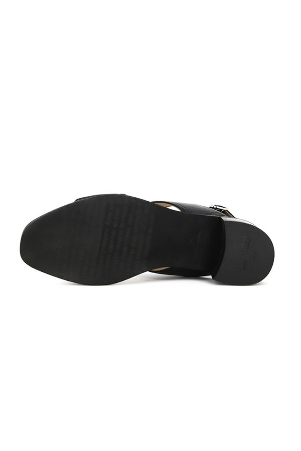 ROYAL REPUBLIQ BLACK TOWN LEATHER STRAP SANDAL